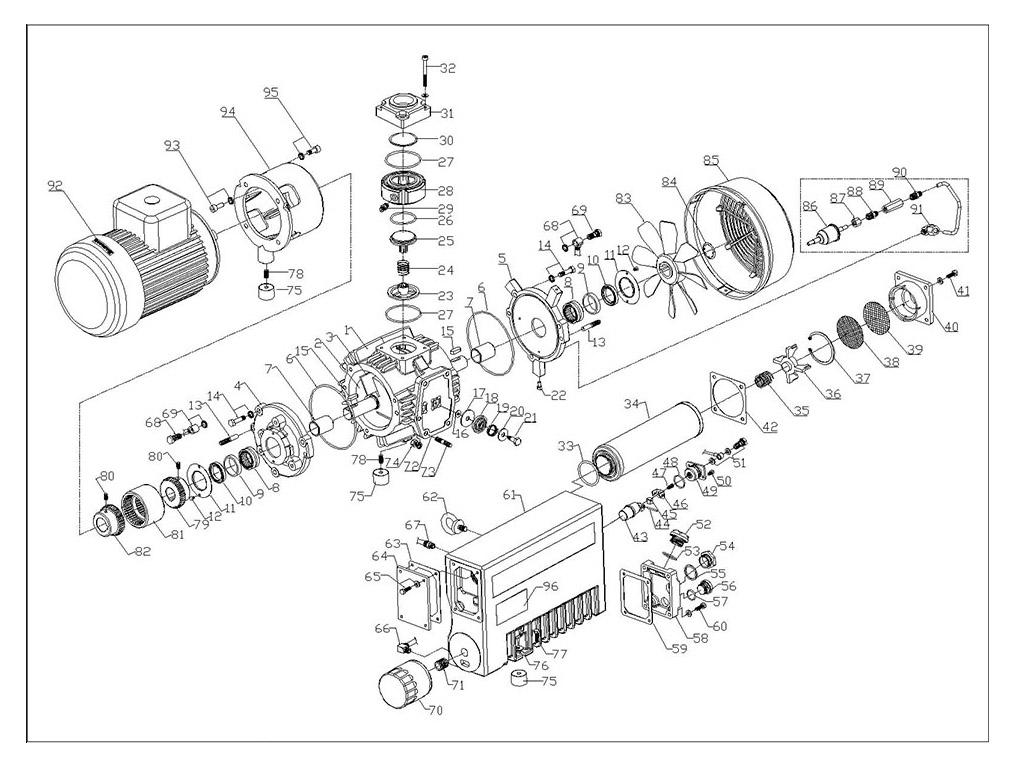 单级油式旋片真空泵,普旭ra0040,莱宝sv40b,贝克u4.40